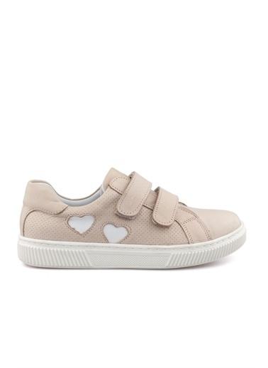 Cicibebe Deri Kız Çocuk Ayakkabısı Pudra